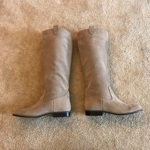 Michael Kors Suede Tan Riding Boot